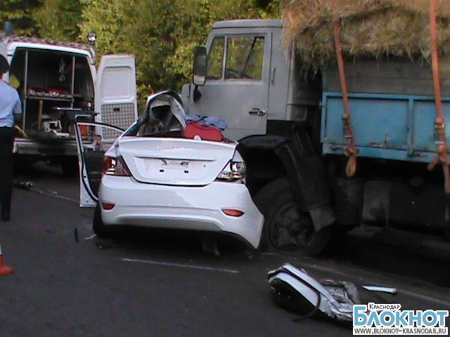 В аварии в районе Горячего ключа погибли три человека