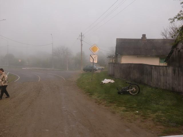 В Северском районе погиб мотоциклист, врезавшись в дорожный знак