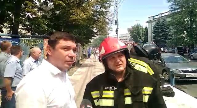 Площадь пожара у ж/д вокзала в Краснодаре увеличилась в пять раз