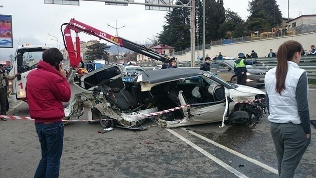 Авария в Сочи: водитель «Шкоды» на бешеной скорости сбил пешехода