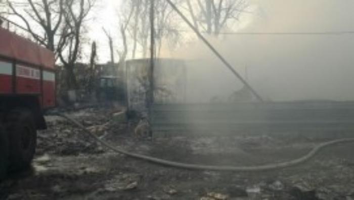 ВКиреевском районе горел дом