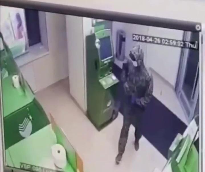 Подрывника банкоматов в Краснодаре сняли на видео