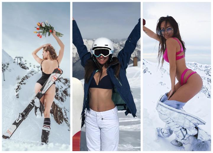 Какие девушки отдыхают в горах Краснодарского края в марте