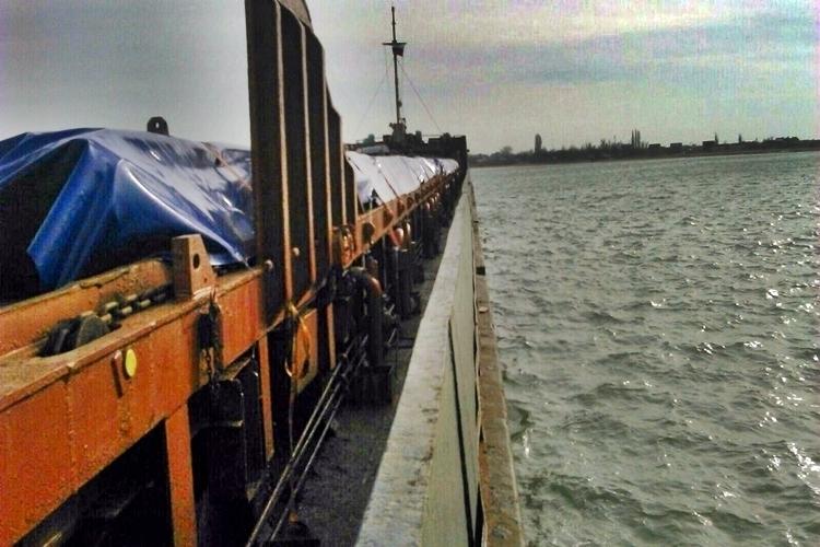 Опубликованы первые фото бедствия сухогруза «Амур» в Азовском море