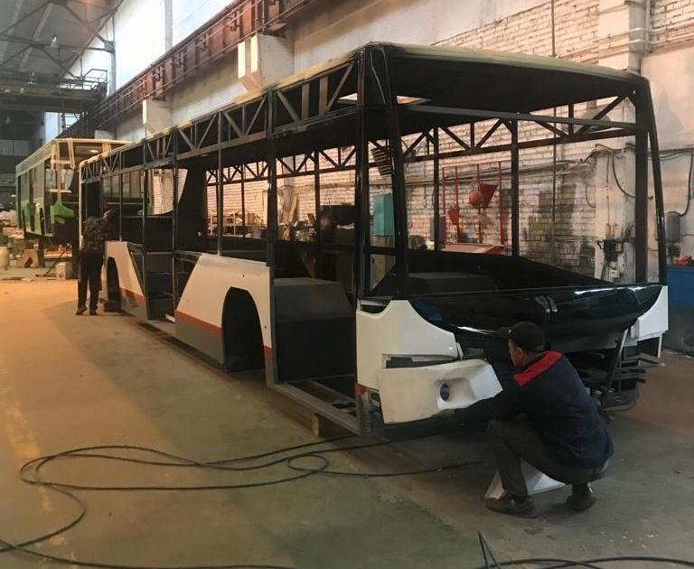 Мэрия Краснодара показала снимки полуготовых электробусов