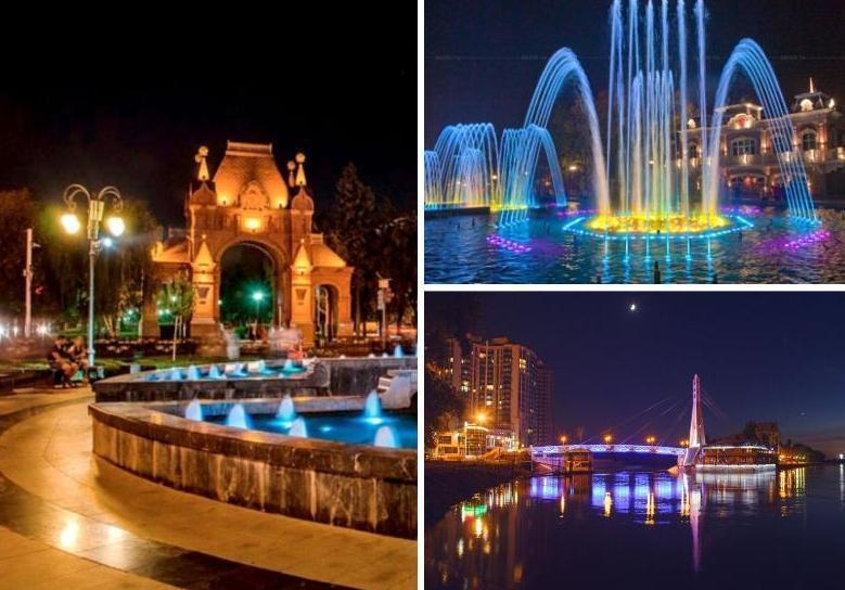 Самые красивые места ночного Краснодара