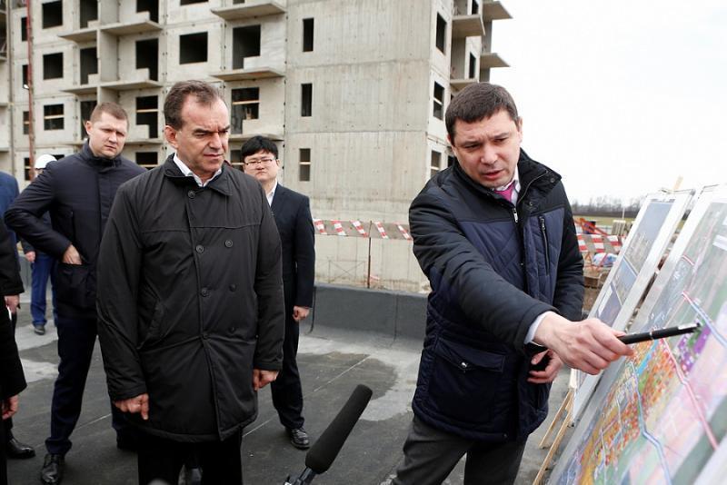 Губернатор Кубани вместе с мэром Краснодара представили концепцию нового микрорайона