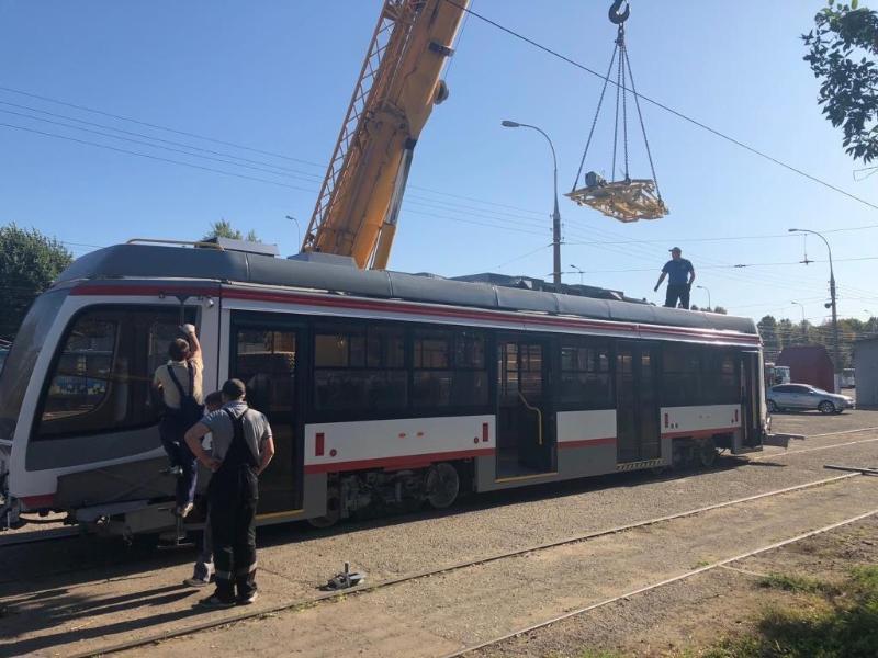 Два новых трамвая прибыли в Восточное депо Краснодара