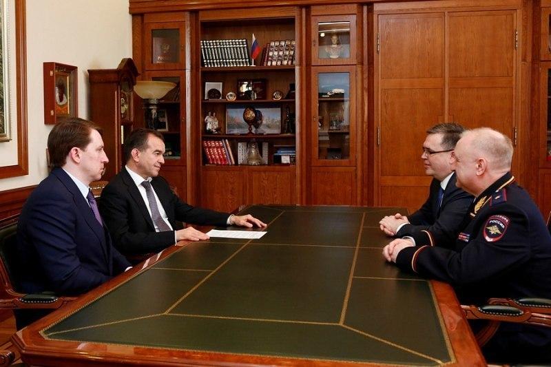 Губернатору Кубани представили нового начальника регионального главка