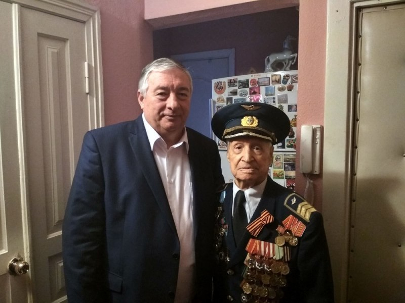 Освободителю Ленинграда в Краснодаре вручили памятную медаль