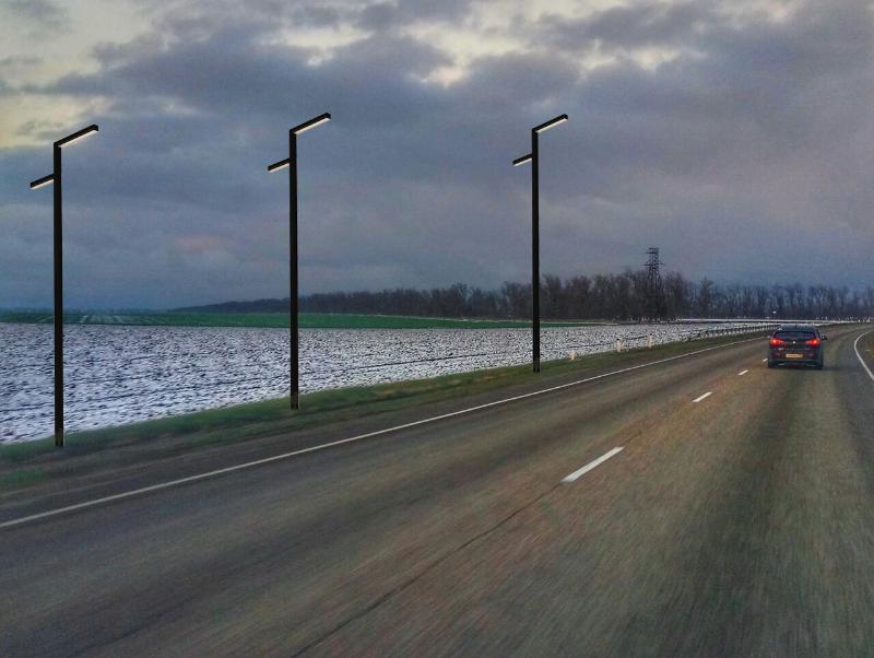 Более 12 млн рублей выделят из бюджета Краснодарского края на освещение дороги