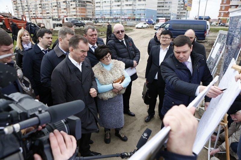 Губернатор поручил мэру Краснодара все исправить в Музыкальном микрорайоне, деньги выделят