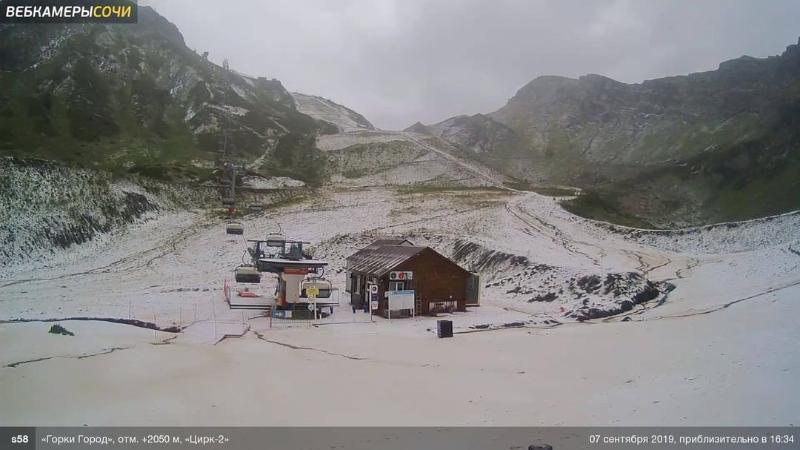 В Сочи выпал первый снег