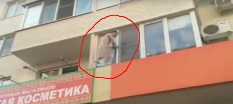 Голый мужчина прогулялся по балконам Краснодара