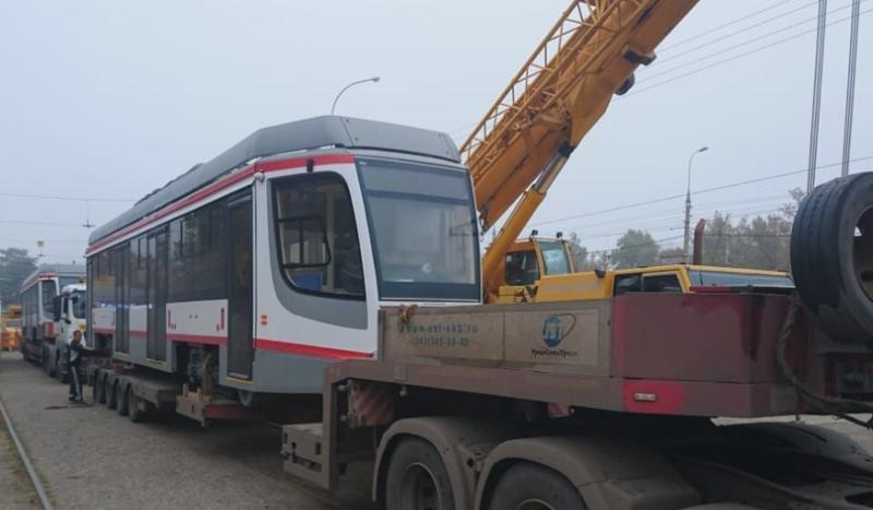 Два новых трамвая и один троллейбус прибыли ночью в Краснодар