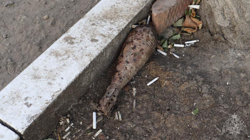 В Краснодаре рядом с многоэтажкой обнаружили бомбу времен ВОВ