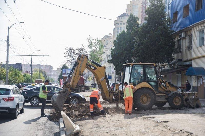 Улицу Кожевенную в Краснодаре ремонтируют с опережением графика
