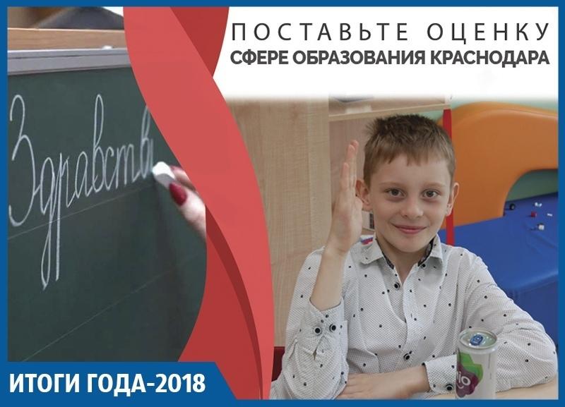 Нехватка мест в школах, высокие баллы ЕГЭ и школьники-хулиганы: итоги 2018 года в сфере образования Краснодара