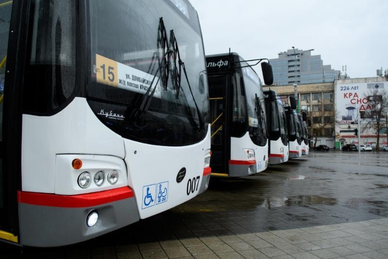 Новые троллейбусы в Краснодаре вышли на маршрут № 15