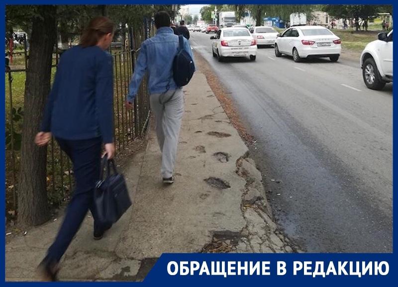 «Сколько людей нужно сбить», - краснодарец рассказал о тротуарной проблеме