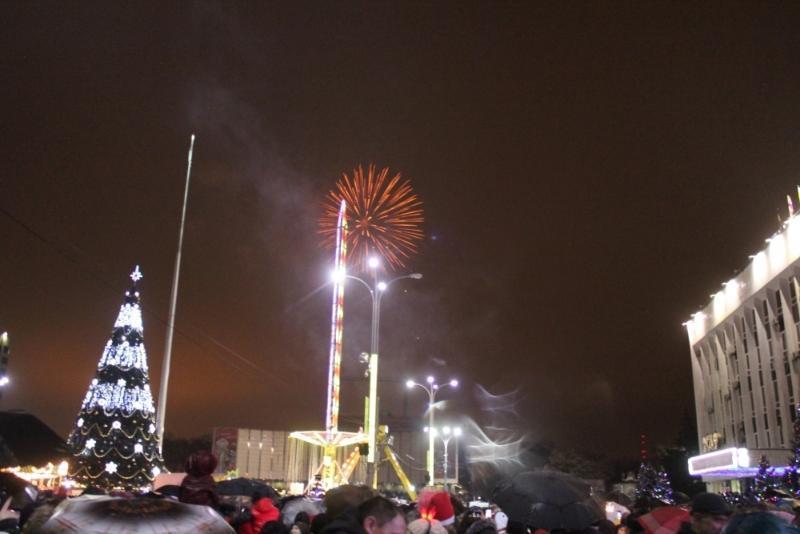 20 тысяч человек встретили Новый год в центре Краснодара