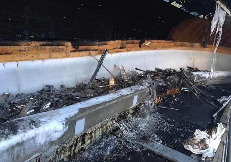 В Сочи от пожара пострадала олимпийская бобслейная трасса