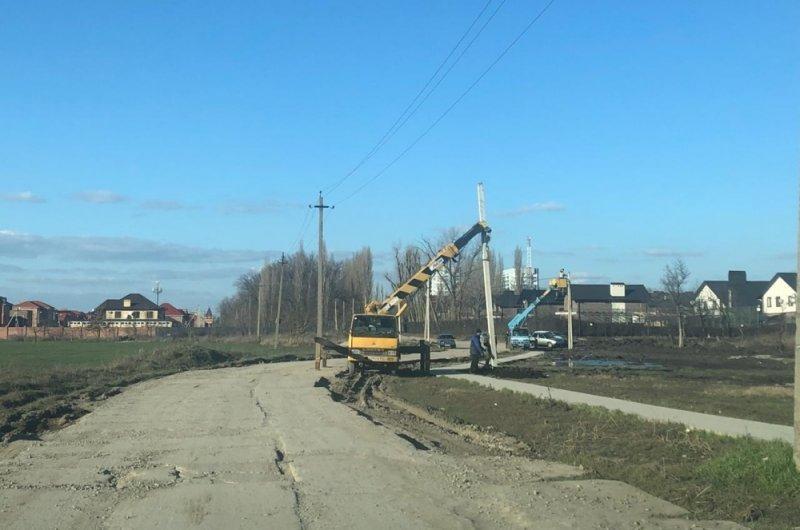 По дороге к школе в Краснодаре сделают освещение