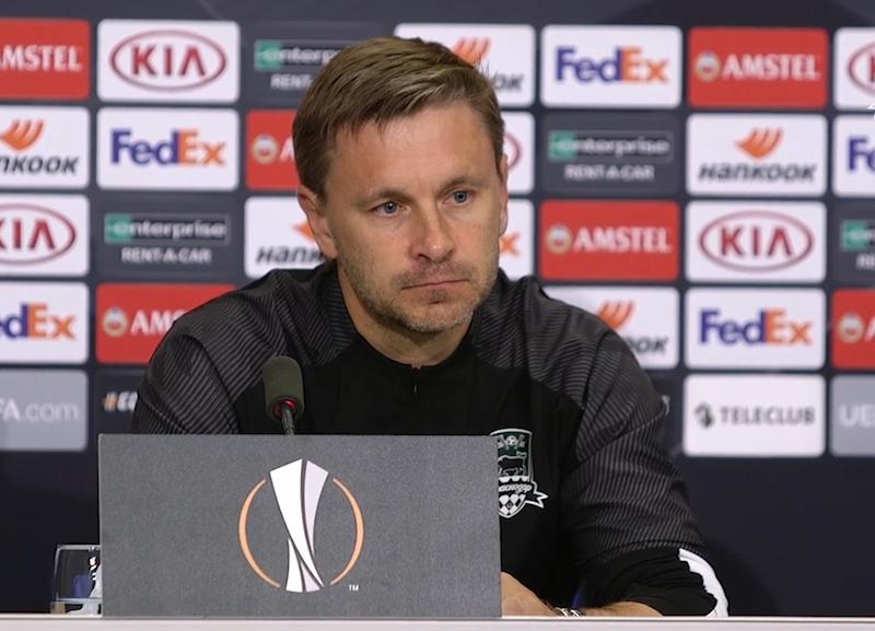 «Нельзя так стартовать»: тренер «Краснодара» о проигрыше в матче Лиги Европы