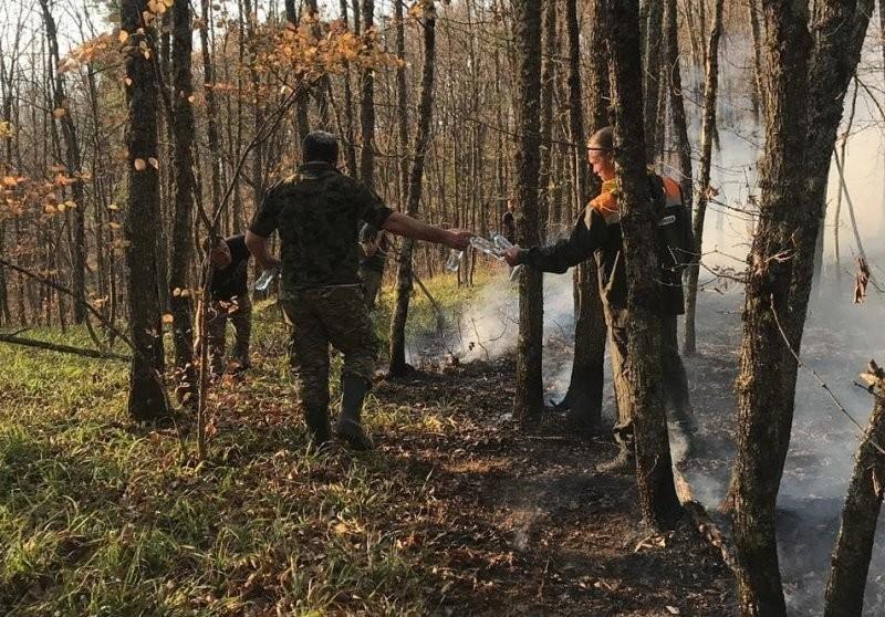 Два из семи очагов возгорания в Северском районе Кубани потушили