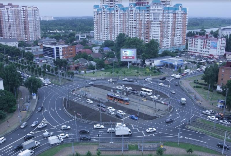 Новую схему движения запустили на Старокубанском кольце в Краснодаре