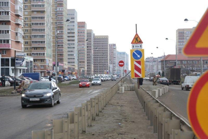 Улицу Петра Метальникова в Краснодаре открыли после прокладки труб ливневки