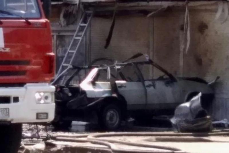 Взрыв газового баллона в авто в Краснодарском крае попал на видео