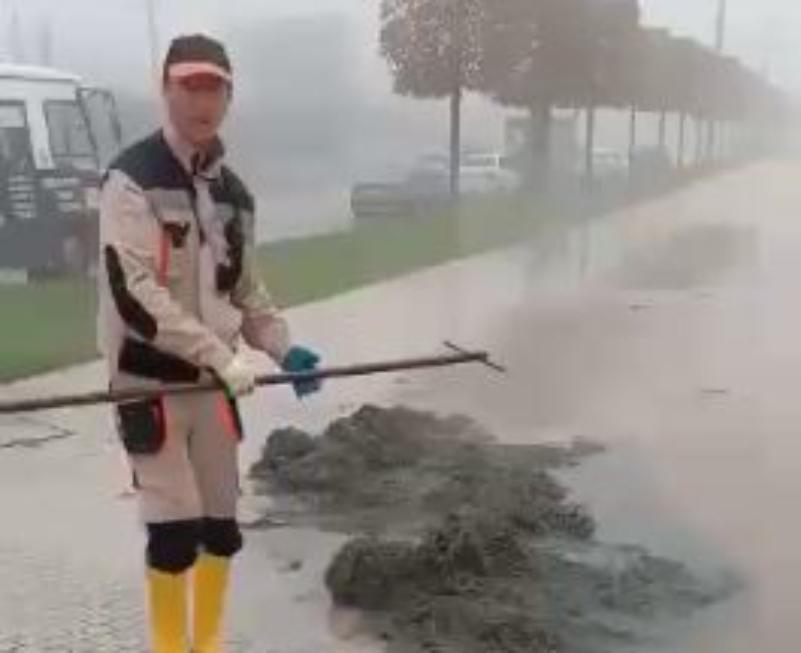«Затопило»: зловонная жидкость растеклась по улице вблизи парка «Краснодар»