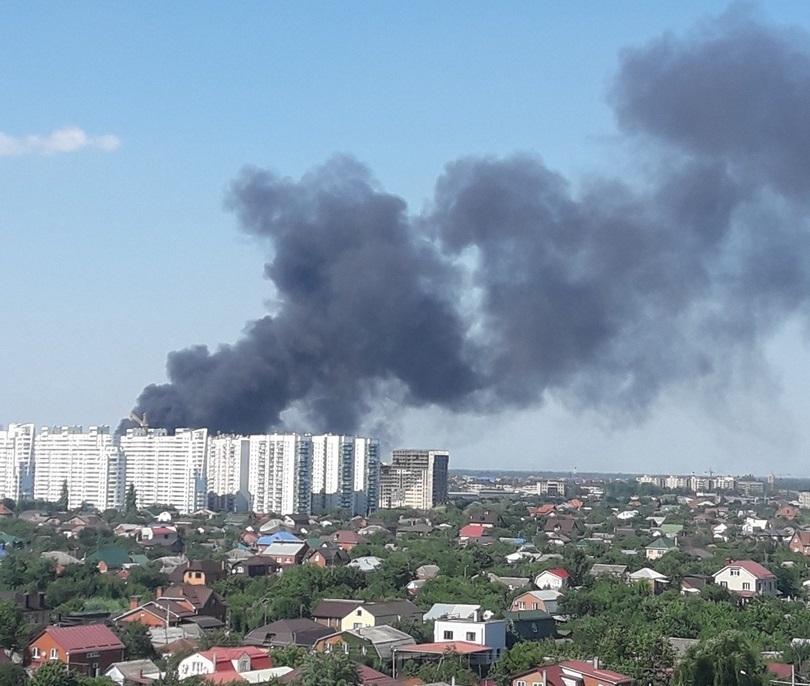 Пожар в краснодарском ТД «Северяне» локализовали