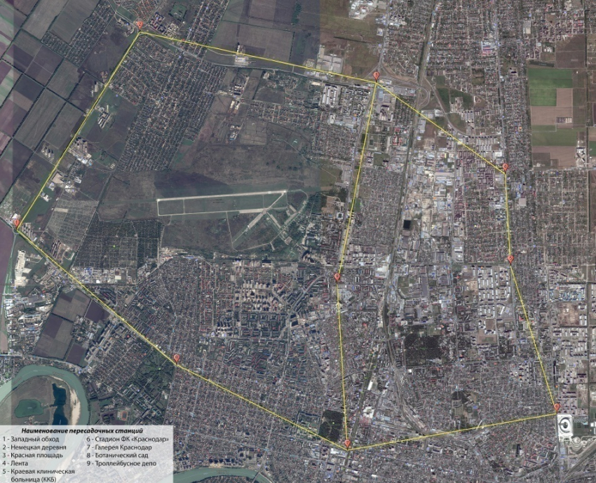 ВКраснодаре представили схему станций «канатного метро»