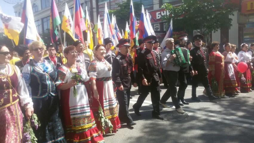 Первомайская демонстрация вКраснодаре собрала 56 тыс. человек