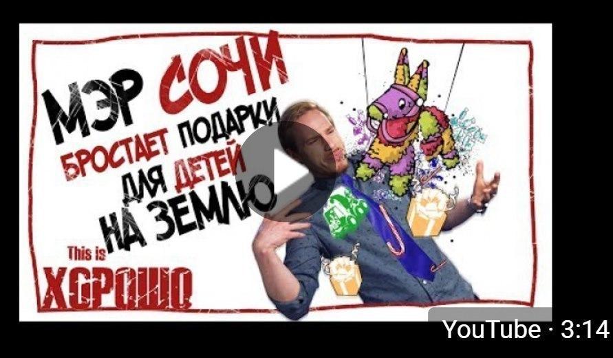 Известный блогер Стас Давыдов осудил мэра Сочи «за пренебрежительное отношение к детям» в своем шоу