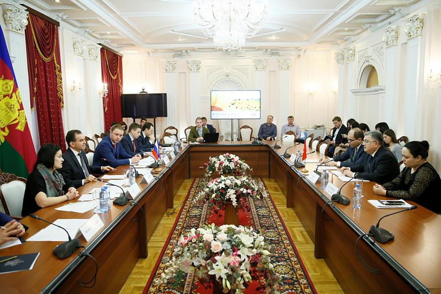 Губернатор Кубани Кондратьев обсудил с турецким послом торговлю