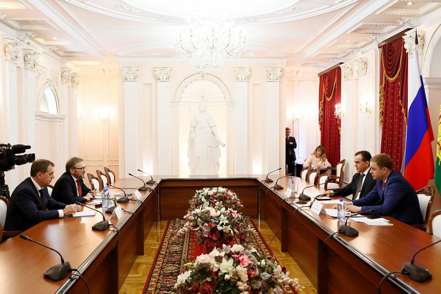 Губернатор Кубани  Вениамин Кондратьев встретился с Уполномоченным при президенте РФ Борисом Титовым