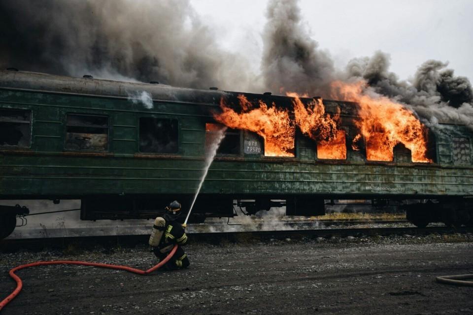 Поезд в Сочи загорелся на ходу