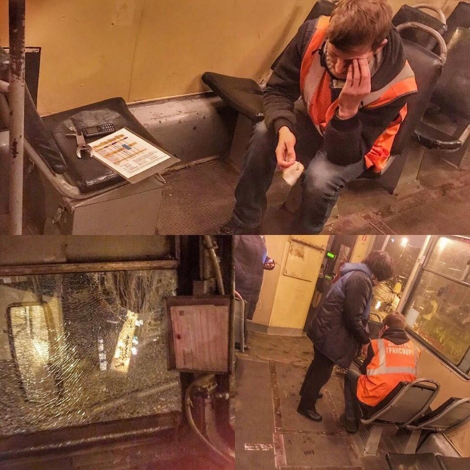 Уголовное дело возбудили после ранения водителя краснодарского трамвая брошенным камнем