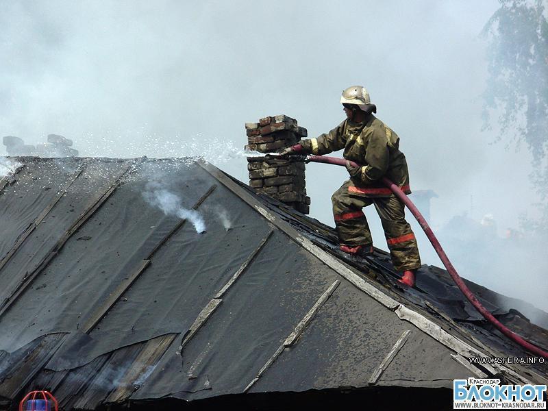 В Крыловской при пожаре сгорели мужчина и женщина