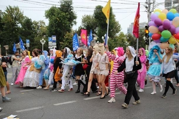 Молодежное шествие в Краснодаре: как это было