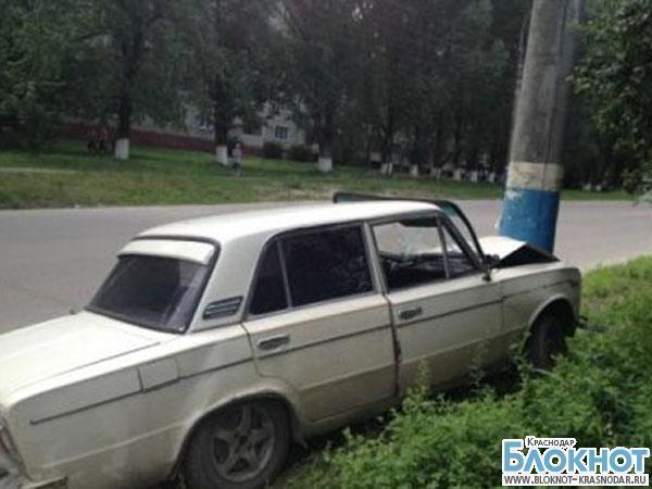 ДТП в Павловском районе: три подростка въехали в столб