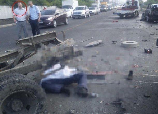 На место ДТП на Дзержинского, где пьяный сын депутата сбил рабочего, лично приезжал начальник краснодарской полиции