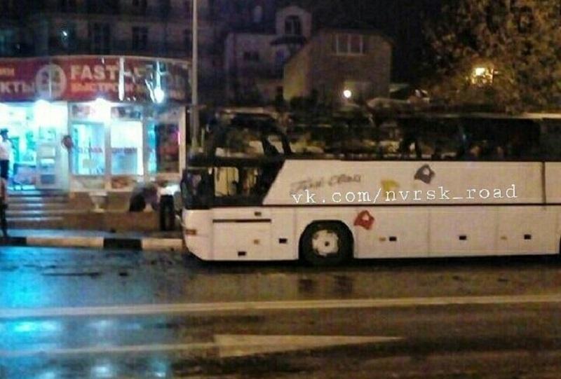 ВГеленджике находу зажегся автобус