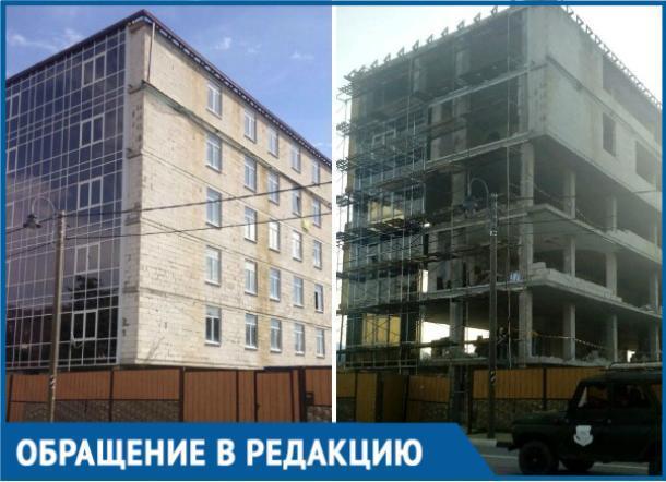 Практически достроенный дом по инициативе администрации Сочи превратился в скелет