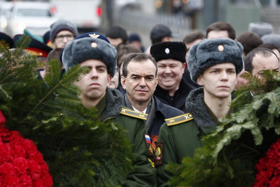 Минутой молчания почтили в Краснодаре память погибших защитников Отечества