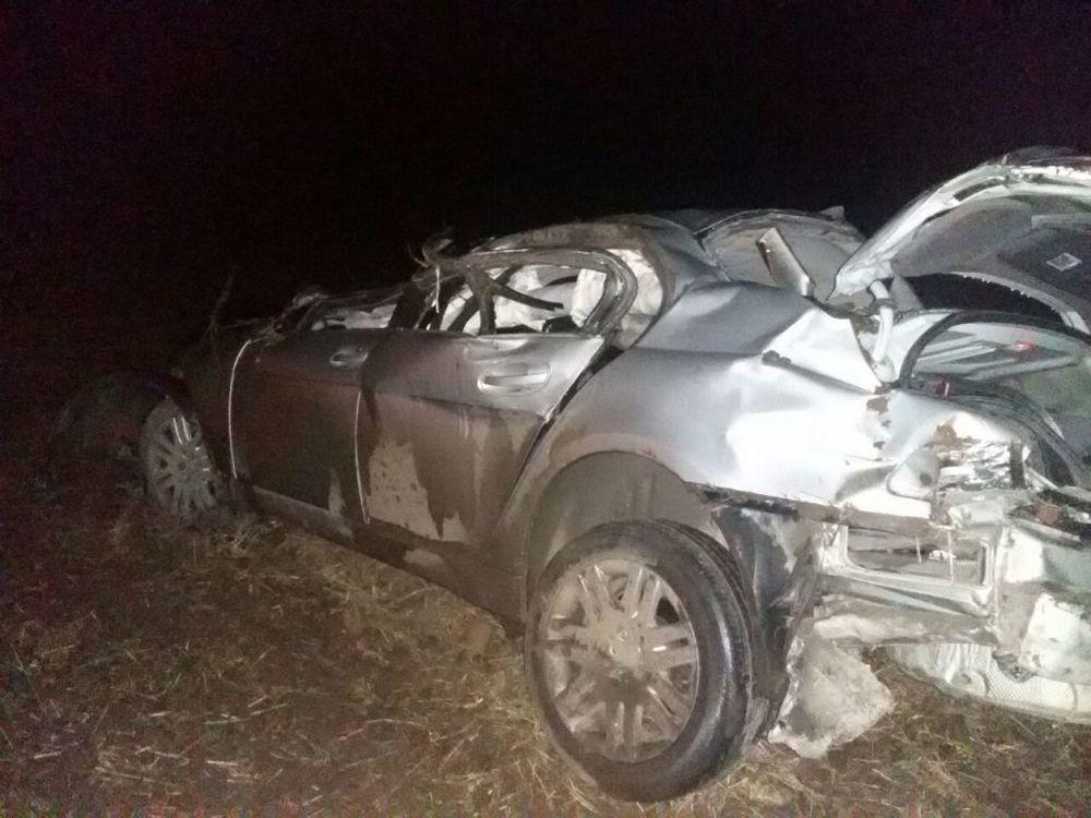 На Кубани перевернулась машина с пассажирами, погибли двое