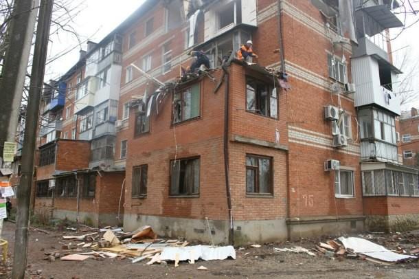 Жильцы взорванного в Краснодаре дома вернулись в свои квартиры
